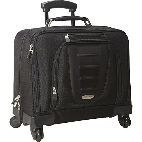 Samsonite 10392 Spinner Mobile Office Wheeled Briefcase, Black