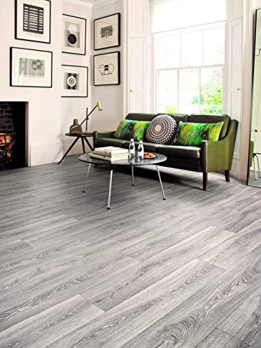 PVC Bodenbelag in eleganter Struktur (9,95€/m²), Zuschnitt (2m breit, 3m lang)