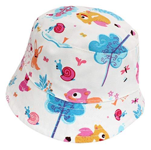 Chapeau de soleil pour bébé fille avec sangle de menton rose - Rose - M