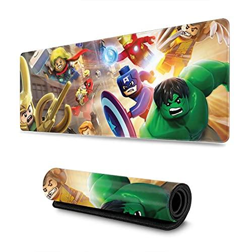 Le-go Marvel Super Heroes Yo-daHd - Alfombrilla de ratón antideslizante con base de goma para teclado de ordenador, 31,5 x 30 cm