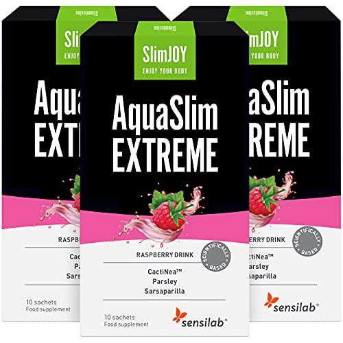 SlimJOY AquaSlim EXTREME - Té Drenante y Detox Natural - 3x10 sobres, suficiente para 30 días