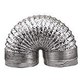 UKCOCO Manguera de tubo de aluminio de 1,5 m manguera flexible de ventilación de tubo de admisión...