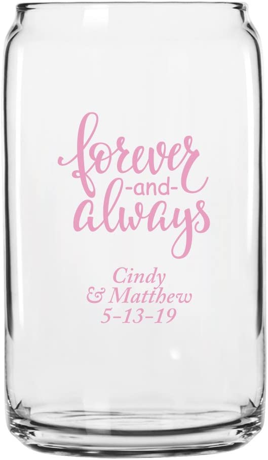 Personalized Color Printed Beer Can Forever Glass Bombing free Ranking TOP17 shipping - Always And