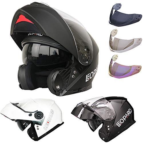 Leopard LEO-888 DVS Modular Flip up Front Motorbike Motorcycle Helmet +...