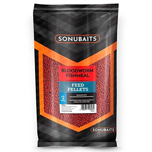 Sonubaits Bloodworm Fishmeal Feed Pellets 900g 2mm S0800001 Pellet Karpfenpellets Futter