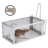 Haofy Jaula de Trampa para Ratas, Ratones, Roedores y Otros Animales 10.3' x 5.5' x...