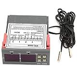 Termostato Regolatore di temperatura, STC-3008 Sensore digitale doppio display doppio sond...