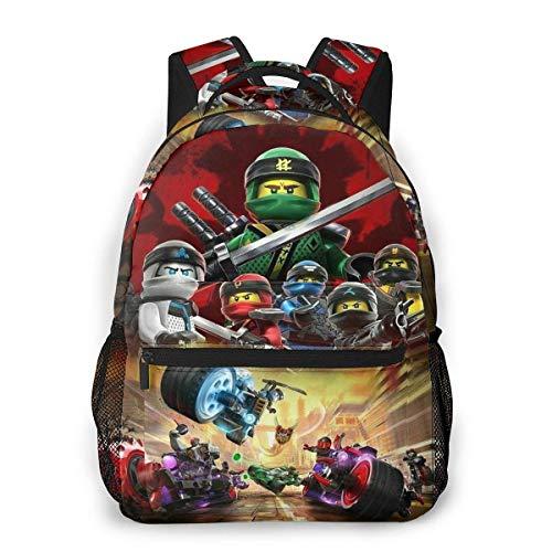 Yuantaicuifeng Ninj-ago Sac à Dos Unisexe Élégant Bookbag pour garçons Filles Sac à Dos de Voyage Étudiants Bookbags