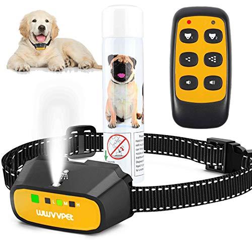 Collar de Entrenamiento para Perros con Spray de citronela con Control Remoto, Collar de ladridos para Perros de citronela de 2 Modos, Dispositivo de ladridos Impermeable a Prueba de Golpes