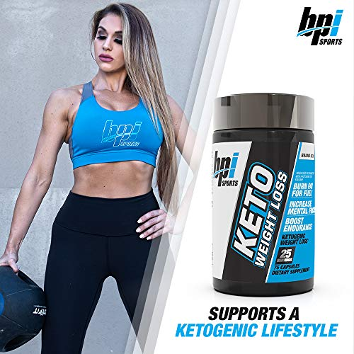BPI Sports Keto Weight Loss - Ketogenic Fat Burner - Keto Weight Loss Pills - Raspberry ketones - Supports Mental Focus - Promotes Endurance - Burn Fat for Fuel - 75 Capsules 8