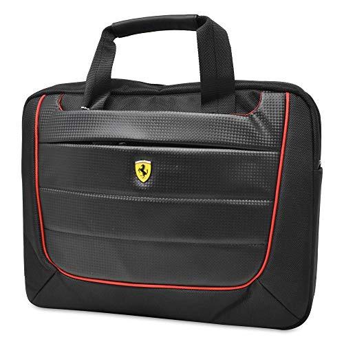 "FERRARI Laptop Shoulder Bag 13"" Laptop/Document/Office Bag Black"