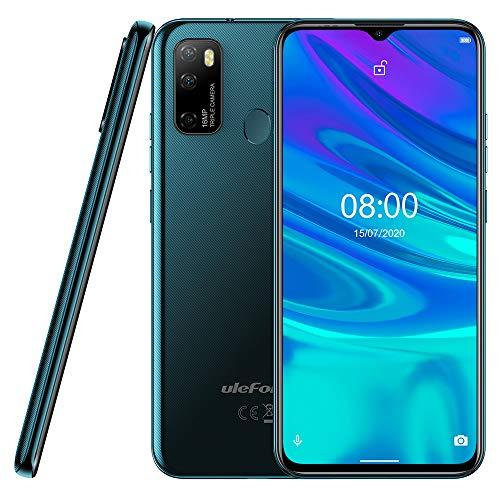 "Android 10 Smartphone Offerta Ulefone NOTE 9P, 6,52"" Cellulare 16MP Quad Camera, Octa-Core 4GB + 64GB, 3 slot Per Schede, Dual SIM, Batteria 4500mAh OTG, Sblocco Viso+Impronta Digitale GPS Verde"