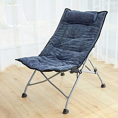 YUMUO Portable Lounge Chair for Living Room Dorm Or Apartment,Adjustable Folding Recliner,Padded Patio Folding Lounge Chair D