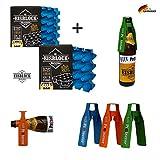 SL Eisblock Set Sparpaket 0,5l Bierkühler + 3 x Bier Protector Der Insektenschutz für Bierflaschen...