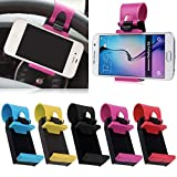 SDO Universal Car Steering Wheel Mobile Phone Socket Holder For Apple Iphone 6 6S Plus 5C 5S /...