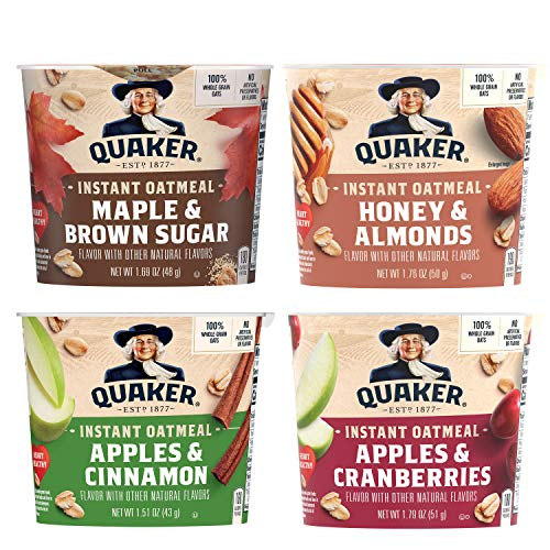Quaker Instant Oatmeal Express Cups 4 Flavor Variety Pack 12 Count