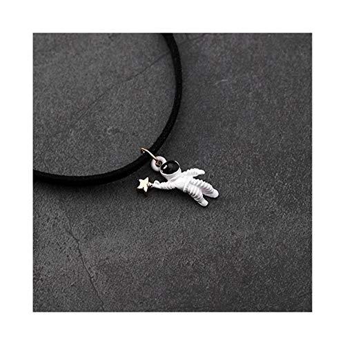 AdorabFruit Présent Pendentif Collar del Collar del Collar de Collar Colgante de Tela Negro Astronauta de la Vendimia for Las Mujeres Regalos (Metal Color : Style 3)