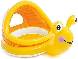 SYXX Inflable natación del bebé del anillo del flotador, niños de la cintura del anillo del flotador inflable flota de la piscina Juguetes, Caracol cama flotante con toldo, Asiento Piscina anillo con