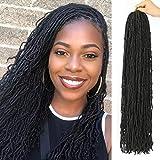 5 Packs New Locs Crochet Hair 36inch Straight Goddess Locs Crochet Braids Natural Micro Afro Locs Crochet Hair Dreadlocks Mini Locs Styles…