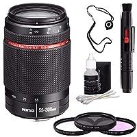 Pentax HD pentax-da 55–300mm f / 4–5.8Ed Wrレンズ+ 3枚フィルタキット+デラックス3個入りレンズクリーニングキット+レンズペンクリーナー+レンズキャップキーパー6Aveバンドル