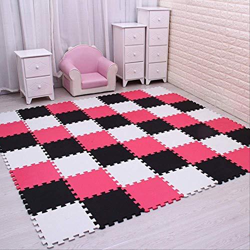 29 cm * 29 cm * 0,8 cm Eva Foam Play Puzzle Mat Schwarz-weiß-ineinandergreifende Übungsfliesen Bodenteppich Und Teppich Für Kinder Pad 9 PCS