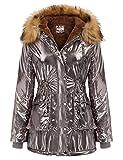 GRACE KARIN Womens Hooded Fleece Line Coats Parkas Faux Fur Jackets with Pockets