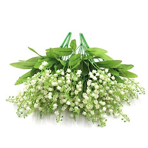 Fausses Fleurs Exterieur, Muguet Artificiel Bouquet De Fleurs Artificielles pour Les Décorations De Mariage À La Maison Lovable