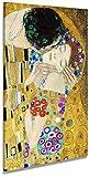 digitalpix Artenòr Quadro Klimt Gustav Il Bacio (Particolare) - Stampa su Tela Canvas Intelaiata - 70 x 100 cm