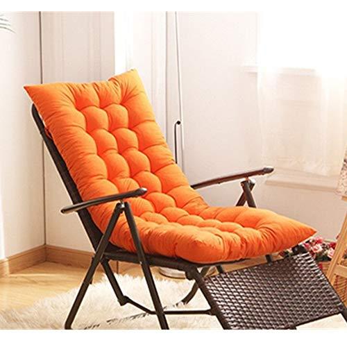 Yingm Schaukelstuhlkissen Innen- und Außenterrasse Lehnstuhl Kissen Freizeit-Stuhl-Kissen-Schaukelstuhl Kissen Sofakissen Patio Garten (Farbe : Orange, Size : 125cm)