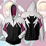 Cosplay Spiderman Into The Spider Verse Miles Morales Hoodie Coat Sweatshirts Spider Verse Costumes Men Zipper Hooded Jacket,D,L