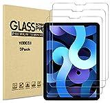 YODESI - Juego de 3 protectores de pantalla de cristal templado para iPad Air 4,(10,9 pulgadas, 2020 New) y iPad Pro de 11 pulgadas, alta definición