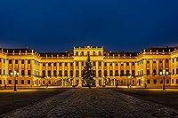 ウィーン宮殿オーストリアクリスマスタウン広場クリスマスツリー大人のパズル子供1000ピース木製パズルゲームギフト家の装飾特別な旅行のお土産