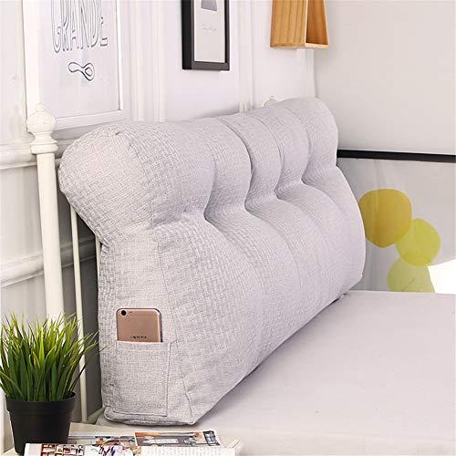 LYDMLZYD Lino Cabecero Triángulo Cojines Simple Curva Respaldo Grande Almohada Desmontable Suave cabecero Cojines amortiguaro para Sofá Cama Dormitorio Oficina etc