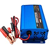 24Volt 5A Automatic Battery Charger Trickle Charger Battery Maintainer with Alligator Clips for Scooter Car Wheelchair Motorcycle eBike Lawn Mower Marine Boat