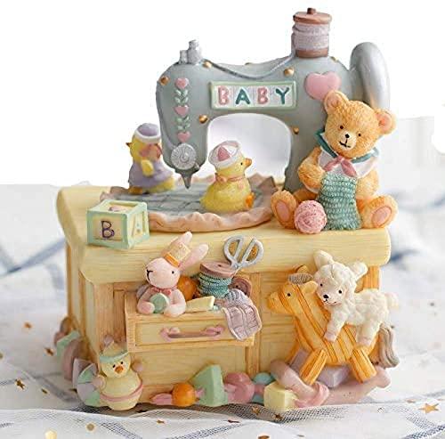 Máquina de Coser de Animales Caja de música para niños Mamá Girls Boys Baby Women Regalos de cumpleaños