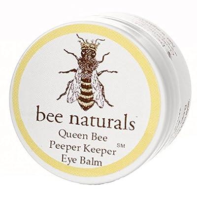 Queen Bee Naturals Best Eye Balm Peeper Keeper - Eyelid Cream Helps Reduce Crows Feet, Wrinkles & Fine Lines - Pure Anti Aging Restorative Moisturizes Your Skin - Vitamin E + 10 Organic Nutrient Oils