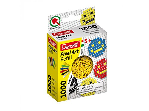 Quercetti Pixel Art Refill - 1000 Pegs - Yellow