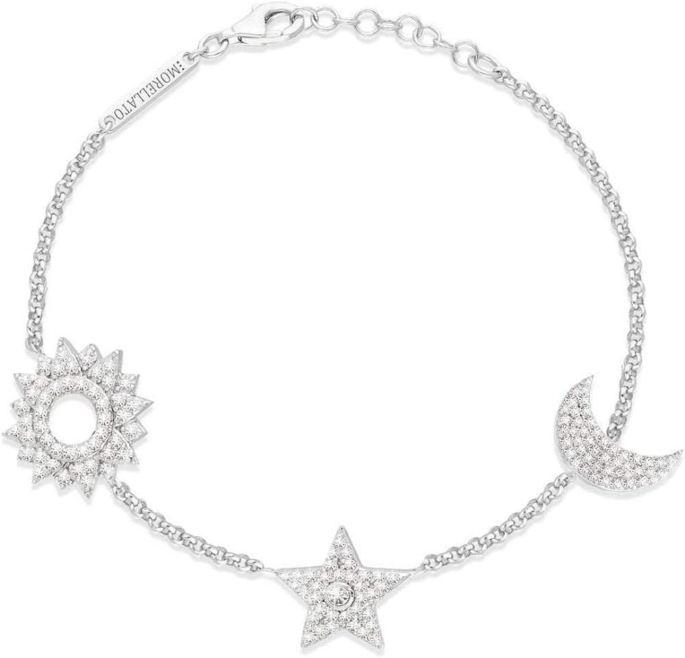 Morellato, bracciale da donna con charm,in   argento 925(5,5 gr) e zirconi SAHP04