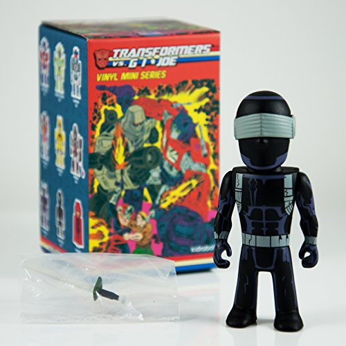 Transformers Snake Eyes vs GI Joe 3' Mini Series Kidrobot Vinyl Figure Opened Blind Box