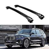 Para BMW X7 G07 2018 2019 2020 2021 Portaequipajes De Techo Barras Transversales De Coche Baca Porta Equipaje AleacióN De Aluminio Barras Laterales Rieles Cruzados Rack De Techo