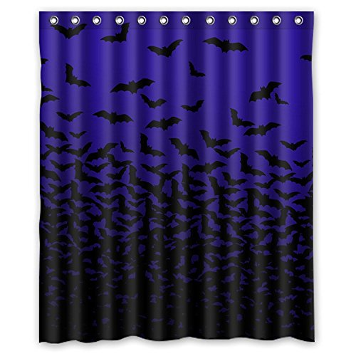ZHANZZK Halloween Thousands of Bats Waterproof Bathroom Shower Curtain 60x72 Inches