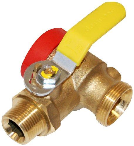 Oventrop 3017842 Kugelhahn für Einrohrgaszähler - Optigas, DN 25, mit Prüföffnung ohne Verschraubung