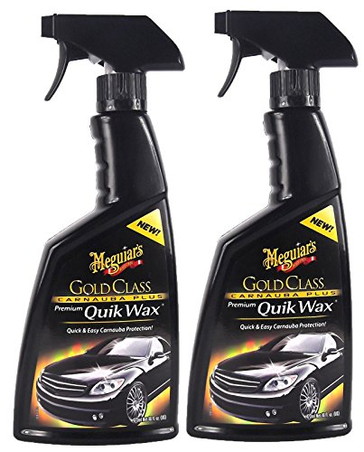 Meguiar's 2X MEGUIARS Gold Glass Carnauba Plus Quik Wax Sprühwachs 473 ml