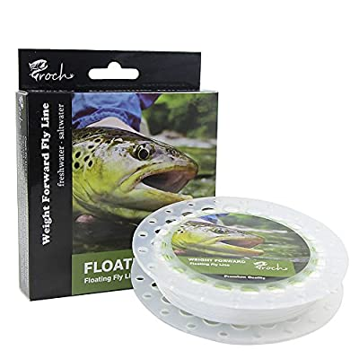 Fly Line Floating Weight Forward Fly Fishing Line WF 3F 5F 7F 30M + 30LB Backing 50YD(45M) + Leader 9FT(27M) by Croch
