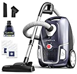 PINETAN Professional Canister Vacuum Cleaner UA807, 62 dB Advanced Low Noise Technology, High Suction Power and Rotation Speed Adjustment, 4.5 L Extra Large Dust Bags Included.