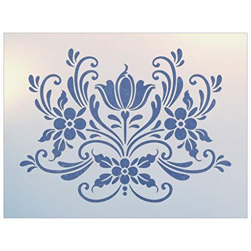 Rosemaling Pattern 16 Stencil - The Artful Stencil
