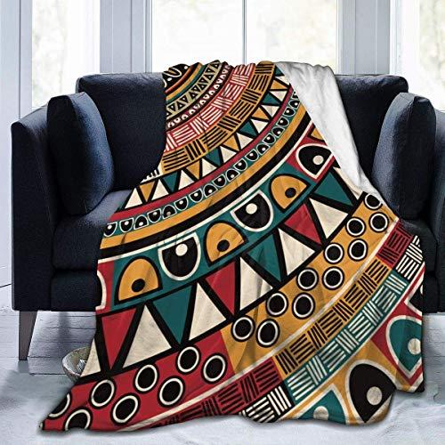 Soft Throw Decken für Erwachsene Frauen Männer, Stammes ethnische Muster Sherpa Plus Velvet Travel Blanket Throw Wearable Cuddle, Übergroße Decken für Bed Couch Sofa Chair Dorm