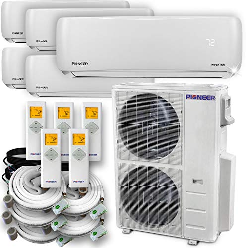 PIONEER Air Conditioner Pioneer Multi Split Heat Pump, Quint (5 Zone)