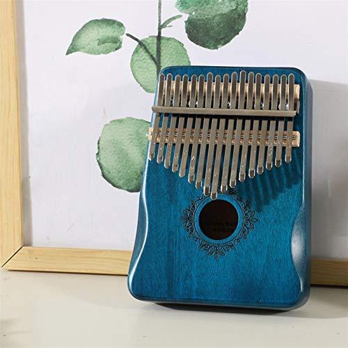 SYXMSM 17 Keys Daumenklavier Holz Mahagoni Afrika Finger Klavier Körpermusikinstrumente Mit Lernbuch (Color : A)