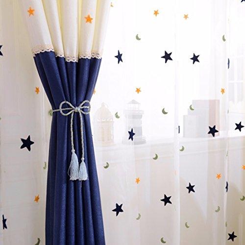 QPGGP Rideaux Simple Rideau De Tissu La Chambre Bay Store,B-168 x 270 CM (W x H)× 2